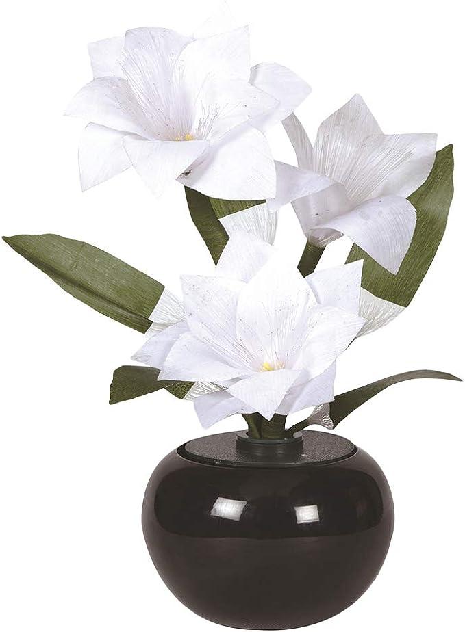 Lotus Color Changing LED Flower Fibre Optic Flower Vase Table Home Wedding Lamp