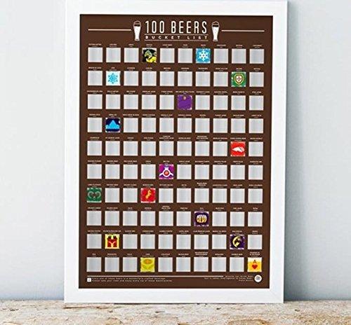 100 Beers - Scratch Off Bucket List Poster Gift Republic Ltd