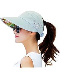 5f24931906654 Sun Hats for Women Wide Brim Sun Hat UV Protection Caps Floppy Beach  Packable Visor