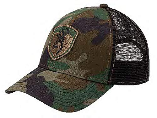Browning Stealth Hat Patch Mesh, Camo Green