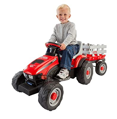 Peg Perego Case IH Little Tractor and Trailer from PEG PEREGO USA INC -- DROPSHIP