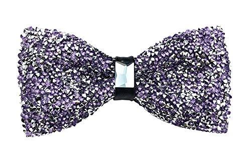 - Men's Boy Novelty Light Purple Rhinestone Bow Tie Pre Tied Elegant Neck Tie French Lavender Bowties