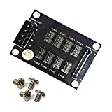 4-Pin SATA 15-Pin to 8X 4-Pin Fan Splitter Hub, Power from One 4-Pin