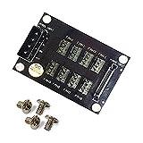 OLEY 4-Pin or SATA 15-Pin to 8x 4-Pin Fan Splitter Hub, Power from One 4-Pin Molex or SATA 15-Pin connector