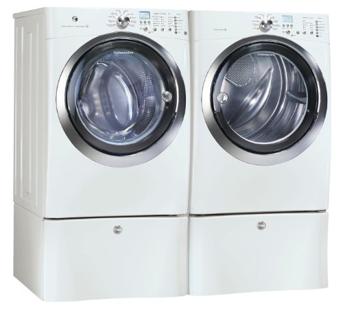 MINKA Electrolux IQ Touch White Steam Front Load Washer a...