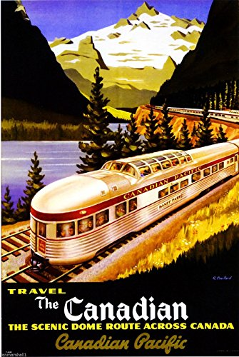 fic Vintage Canada Railroad Train Travel Advertisement Art Magnet (Canada Pacific Train)