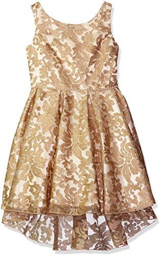Biscotti Little Girls Royal Treatment Hi Lo Sleeveless Dress, Gold, 6 by Biscotti