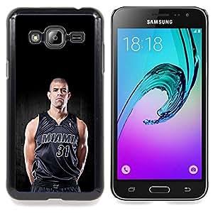 "Qstar Arte & diseño plástico duro Fundas Cover Cubre Hard Case Cover para Samsung Galaxy J3(2016) J320F J320P J320M J320Y (Miami 31 Baloncesto"")"