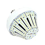 50W Daylight LED Corn Light Bulb for Indoor Outdoor Large Area - E26 8500Lm 4000K for Street Lamp Parking Lot Post Lighting Garage Warehouse High Bay Barn Porch Backyard Garden Airport Super Bright