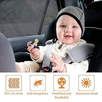 KKTICK Car Window Sunshade for Baby, Car Sun Shade for Rear Window, UV Protection Car Sunshade Mesh Protector Breathable for Kids Pets, Universal for Cars and SUVs, 2 Pack: Automotive