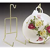Cup and Saucer Stand Twisted Brass - Two Pack - Display Stand