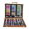 Pawaca 油絵の具セット 水彩画筆 油絵筆セット 美術 画材 画筆 収納ケース付き 子供 最高のギフト 初心者 美術系