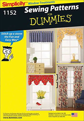 Simplicity 1152 Window Treatments Curtain Sewing Patterns for Dummies, Short and Long Sizes