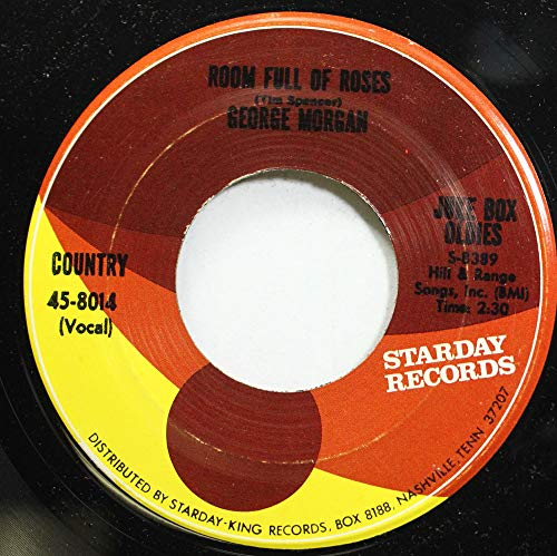 (GEORGE MORGAN 45 RPM ROOM FULL OF ROSES / CANDY KISSES)
