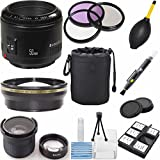 Canon EF 50mm f/1.8 II Autofocus Digideals Lens Kit for Canon EOS 60D, 7D, EOS Rebel SL1, T1i, T2i, T3i, T4i, T3 and T5i Digital SLR Cameras (Non-Retail Packaging)