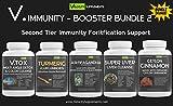 V.Immunity Immune Booster Bundle Kit 2 - VTOX Daily Detox, Turmeric with Bioperine, Ashwagandha, Super Liver Cleanse Formula, Ceylon Cinnamon