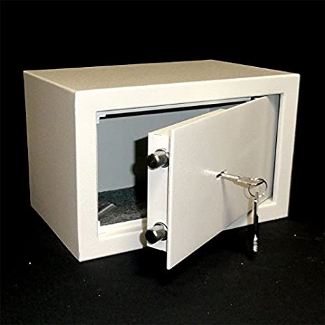 M/öbeltresor Stahl HOMCOM Safe Tresor 23 x 17 x 17 cm mit Elektronikschloss Schwarz