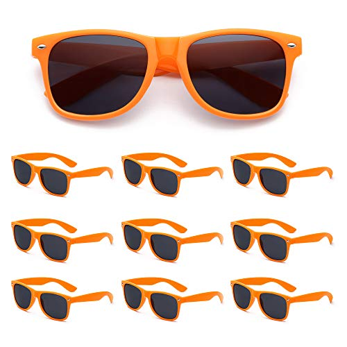 Orange Sunglasses Bulk - 10 Pack Bulk Wholesale Party Sunglasses