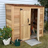 Garden Chalet Wood Lean-To Shed Size: 6.2′ x 3′ Review