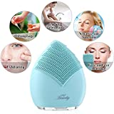 Electric Facial Brush Boots - Facial Cleansing Brush, Silicone Face Brush Sonic Electric Face Cleanser Negative Ions Massager System for Skin Clean