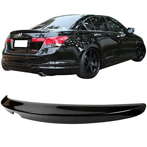 Pre-painted Trunk Spoiler Fits 2008-2012 Honda Accord | OE Style Painted Nighthawk Black Pearl # B92P ABS Rear Tail Lip Deck Boot Wing other color available by IKON MOTORSPORTS | 2009 2010 2011