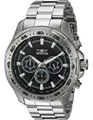Invicta Mens Speedway Quartz Stainless Steel Casual Watch, Color:Silver-Toned (Model: 22780)