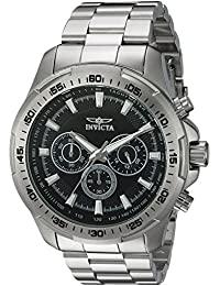 Men's 'Speedway' Quartz Stainless Steel Casual Watch, Color:Silver-Toned (Model: 22780)