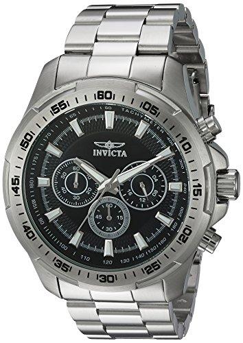 인빅타 Invicta Mens Speedway Quartz Stainless Steel Casual Watch, Color:Silver-Toned (Model: 22780)