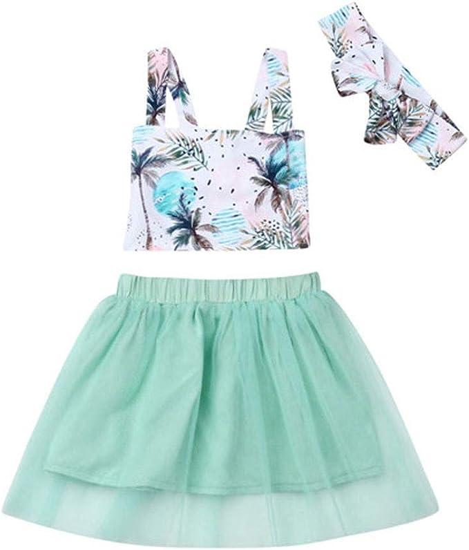Julhold - Conjunto de Falda de Tul de algodón con diseño Floral ...