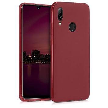 kwmobile Funda para Huawei P Smart (2019) - Carcasa para móvil en TPU Silicona - Protector Trasero en Rojo Oscuro