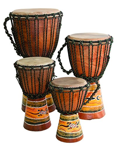Djembe Beginner Paint (16'' tall, 7.5-8.5'' head …) by Terre