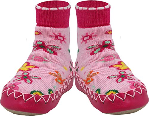 Konfetti Wild Flowers Women and Girls Swedish Slipper Sock ()