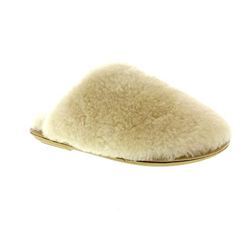 Just Sheepskin Wooly Beige Textile Womens Slippers B076HTXSPJ