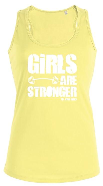 Camiseta sin mangas para mujer Las chicas son más fuertes Girls are Stronger - 9 colores: Amazon.es: Deportes y aire libre