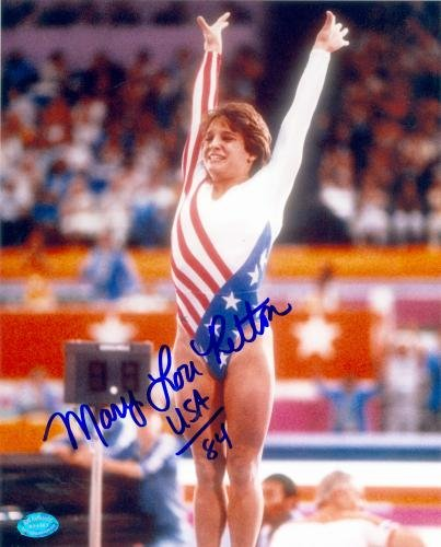 Autograph Warehouse 68207 Mary Lou Retton Autographed 8 x 10 Photo United States Olympic Team 1984 Gold Medal Gymnastics Image No. 3 from Autograph Warehouse