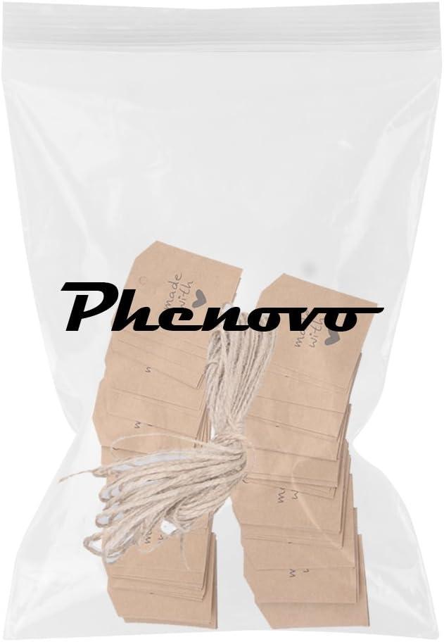 Phenovo 100pcs Made with Love Geschenkanh/änger Etiketten Papieranh/änger Braun