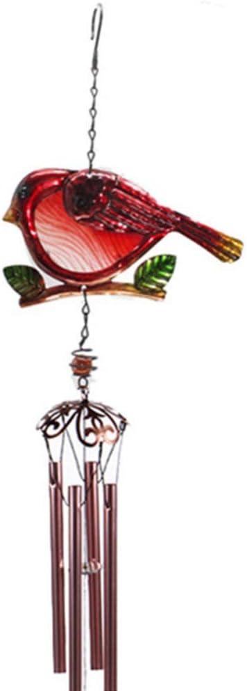 Garneck Campanas de Viento de P/ájaro Campana de Viento Colgante Creativa Campana de Viento de Vidrio Y Metal para Decoraci/ón de Hogar de Jard/ín Al Aire Libre