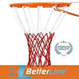 Better Line Premium Quality Professional Basketball Net All-Weather Heavy Duty Thick Net (12 Loops) - Red & White Net