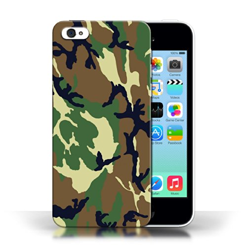 Etui / Coque pour Apple iPhone 5C / Vert 4 conception / Collection de Armée/Marine militaire/Camouflage