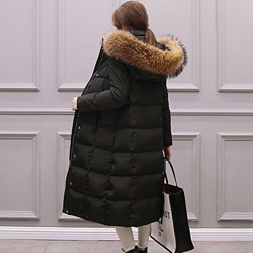 Xuanku Winter Long Long Long Knee Long Jacket Jacket Black