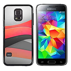 Exotic-Star ( Minimal light waves ) Fundas Cover Cubre Hard Case Cover para Samsung Galaxy S5 Mini / Samsung Galaxy S5 Mini Duos / SM-G800 !!!NOT S5 REGULAR!