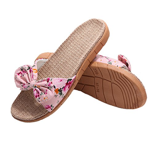 - Flip Flop House Slippers for Women, Women's Classic Memory Foam Spa Thong House Shoes Pink 39-40