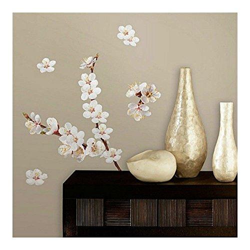 DOGWOOD FLOWERS wall stickers 26 decals wall decor branch white (Flower Emblem Dresser)