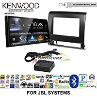 Volunteer Audio Kenwood DMX7704S Double Din Radio Install Kit with Apple CarPlay Android Auto Bluetooth Fits 2012-2015 Toyota Tacoma with Amplified System
