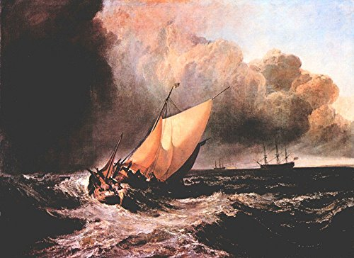 (The Museum Outlet - Dutch boats in a squall by Joseph Mallord Turner - Poster Print Online Buy (30 X 40 Inch))