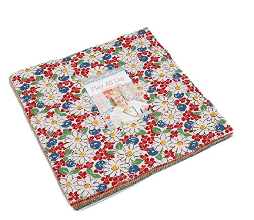 Play All Day Layer Cake, 42-10 inch Precut Fabric Quilt Squares by American Jane