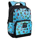 JINX Minecraft Bobble Mobs Kids School Backpack, Blue, 17'