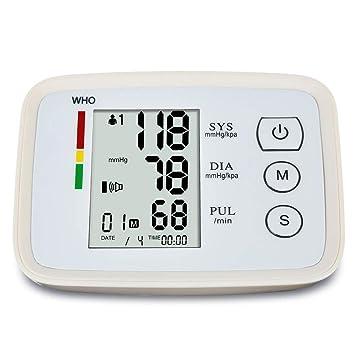 Top-Vigor - Monitor de presión Arterial (Recargable, USB, con Lectura de