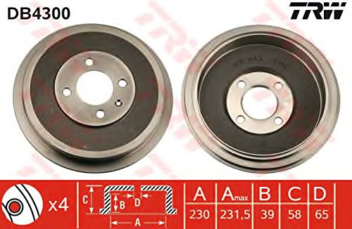 TRW DB4300 Brake Drums: