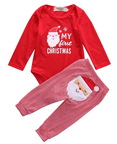 Babys First Christmas Pjs - My First Christmas Newborn Baby Girl